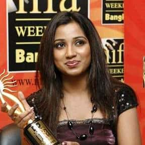 Shreya Ghoshal is listed (or ranked) 4 on the list The Greatest Singers of Indian Cinema