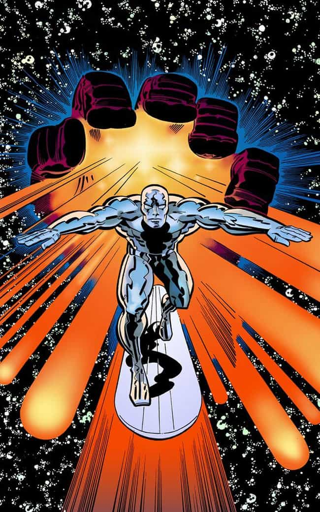 Silver Surfer is listed (or ranked) 3 on the list The Greatest Comic Book Healers