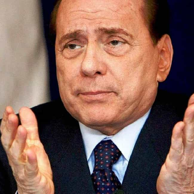 Silvio Berlusconi is listed (or ranked) 3 on the list 26 Family Values Politicians Caught Having Affairs