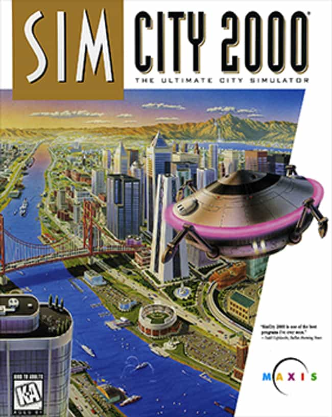 SimCity 2000 is listed (or ranked) 2 on the list '90s Computer Games You Remember Playing in 3rd Grade