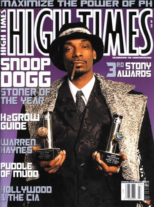 Snoop Dogg is listed (or ranked) 3 on the list The Best High Times Covers