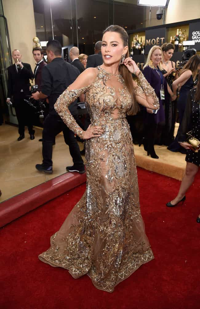 Sofía Vergara is listed (or ranked) 1 on the list The Worst Fashion at the 2017 Golden Globes