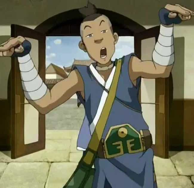 Sokka is listed (or ranked) 2 on the list 18 Major Things The 'Last Airbender' Movie Got Wrong