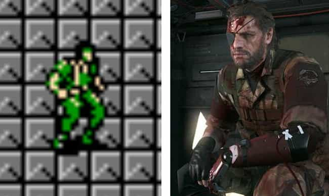 Solid Snake is listed (or ranked) 4 on the list The Evolution Of Your Favorite Video Game Characters Over Time