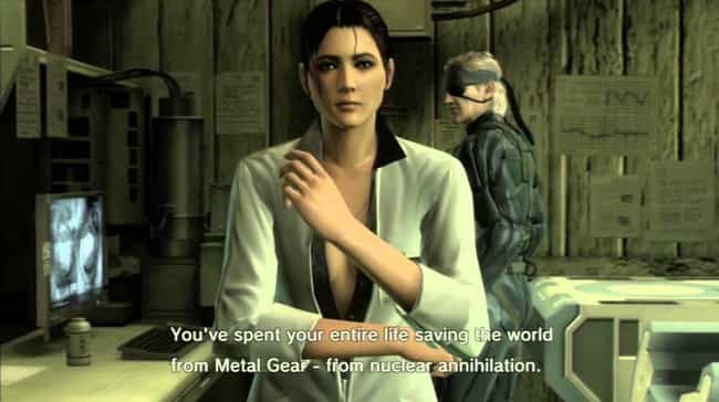 Solid Snake is listed (or ranked) 3 on the list Video Game Characters You Never Noticed Were Total Sexual Deviants