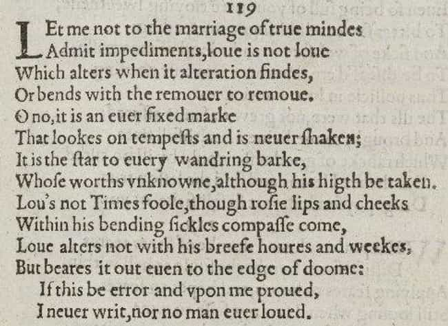Sonnet 116 is listed (or ranked) 3 on the list The Best of William Shakespeare's Sonnets