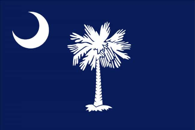 South Carolina is listed (or ranked) 2 on the list The Best US State Flag
