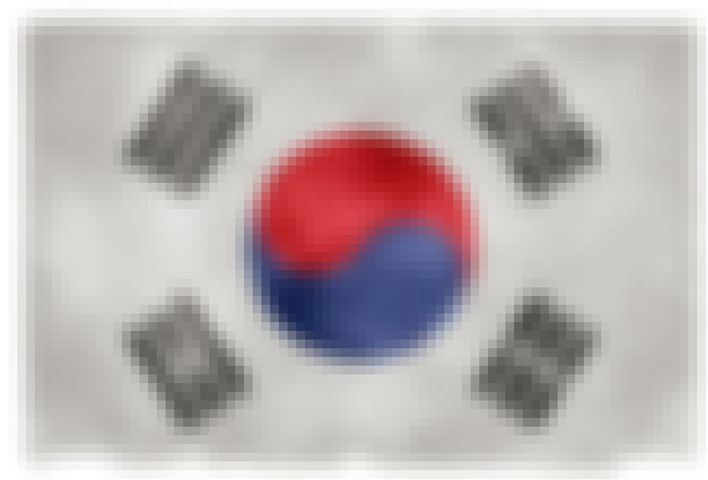 South Korea is listed (or ranked) 2 on the list The Coolest National Flags