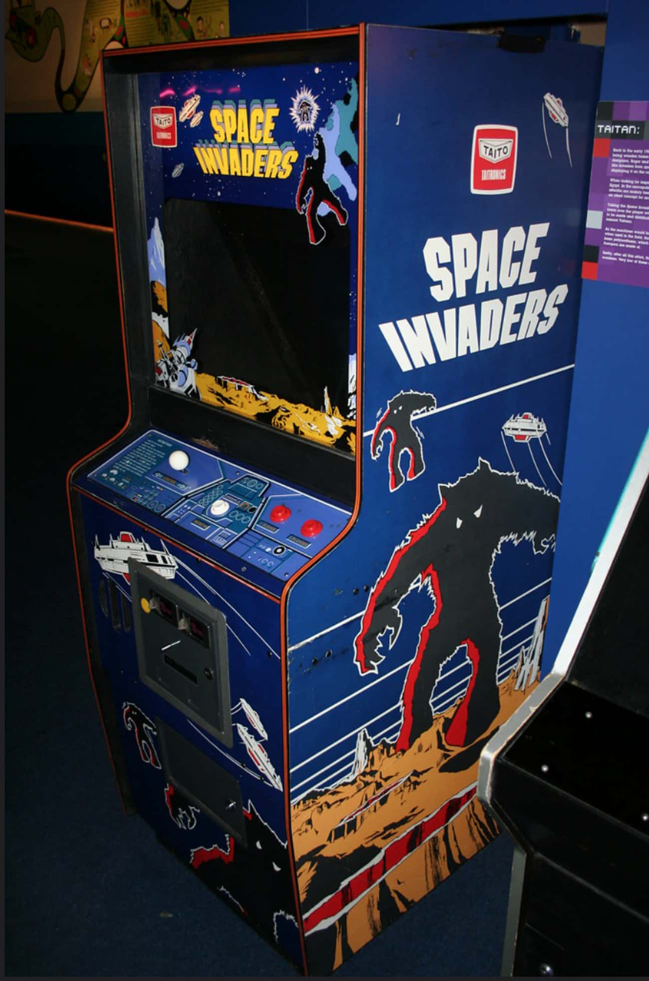 Space Invaders is listed (or ranked) 2 on the list The Coolest Arcade Game Cabinet Art Ever!