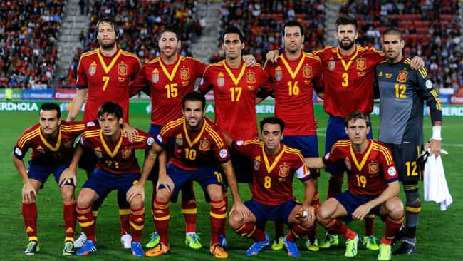 Spain national football team is listed (or ranked) 4 on the list The 19 Biggest Sports Letdowns of 2014