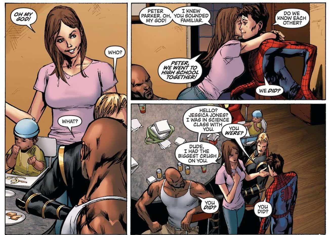 Jessica Jones Was On The Same Field Trip As Spider-Man When A Radioactive Spider Bit Him