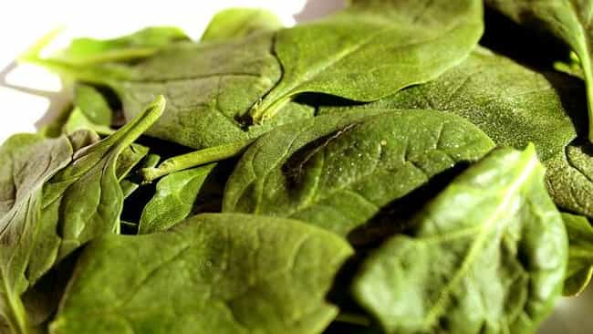 Spinach is listed (or ranked) 3 on the list The Best Foods for Diabetes