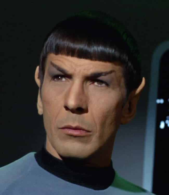 Spock is listed (or ranked) 4 on the list The Best Bangs That Ever Existed on Television