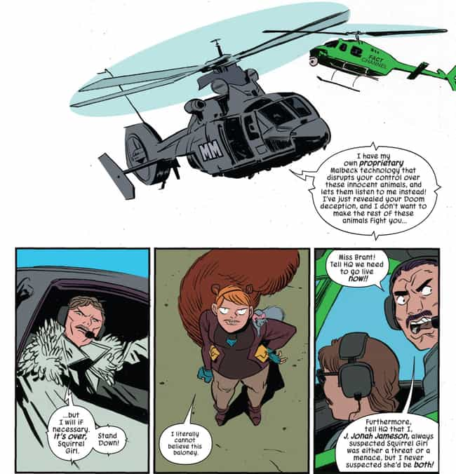 Squirrel Girl is listed (or ranked) 4 on the list Superheroes Who Were Falsely Accused Of Heinous Crimes