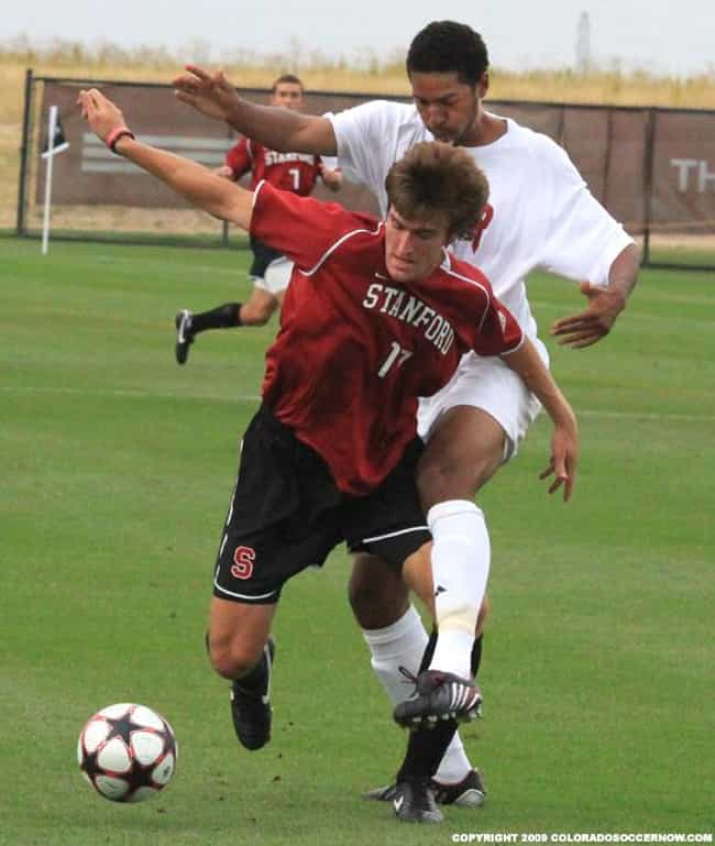 Stanford University is listed (or ranked) 3 on the list The Top Soccer Colleges