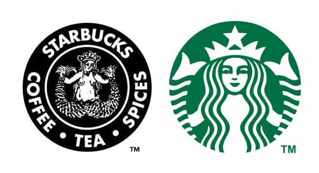 Starbucks is listed (or ranked) 4 on the list 15 Famous Corporate Logos Then And Now