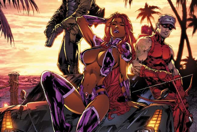 9. Starfire's costumes have always been pretty revealing. She was dressed more like a lady in a gentleman's club than a superhero in Red Hood and the Outlaws. Some female characters are dressed in a titillating way in comic books, but this was just plain absurd!