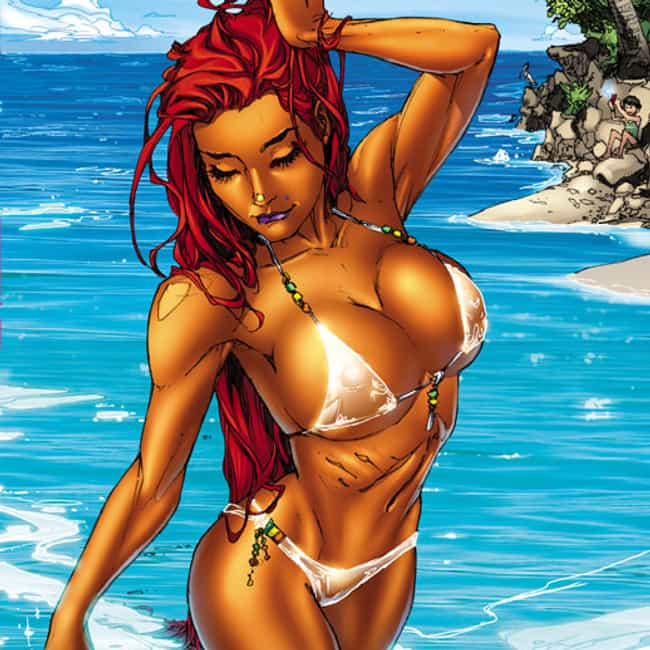 Starfire is listed (or ranked) 1 on the list The Most Promiscuous Superheroes in Comics