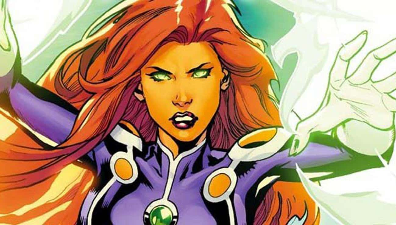 Starfire is listed (or ranked) 4 on the list The Best Superheroes Who Can Fly
