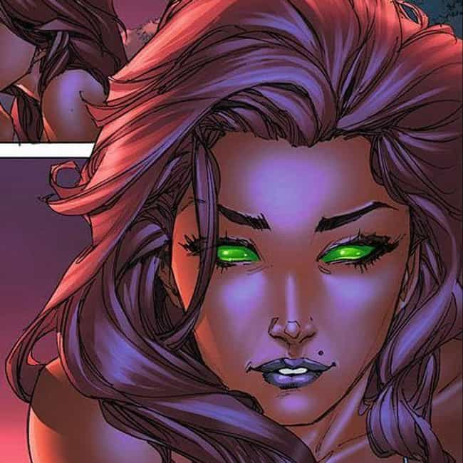 Starfire is listed (or ranked) 1 on the list The Best Comic Book Characters With Green Eyes