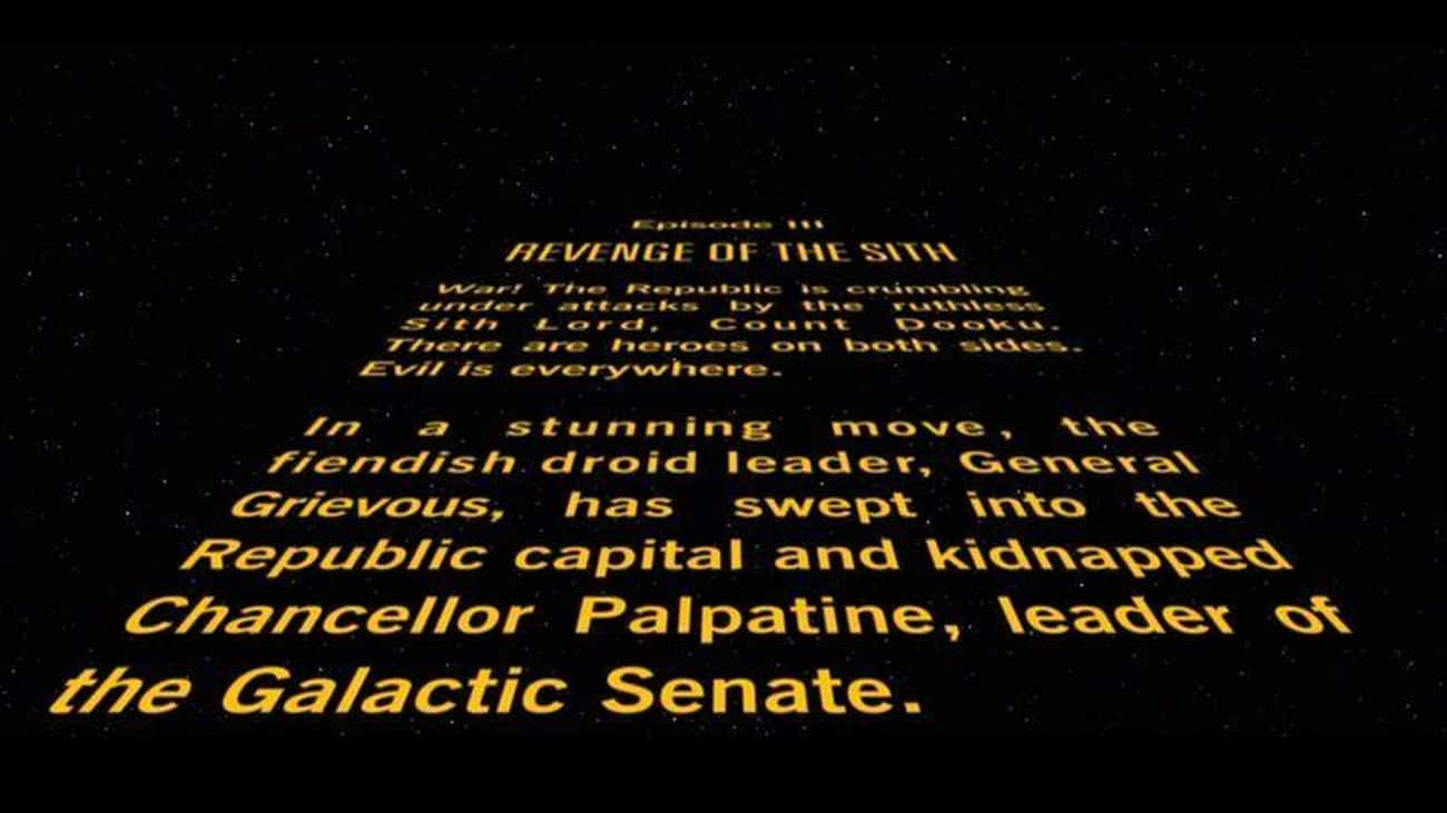 Star Wars Episode III: Revenge is listed (or ranked) 4 on the list Every 'Star Wars' Opening Crawl, Ranked
