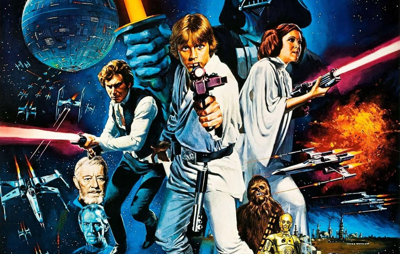1977 - Star Wars is listed (or ranked) 3 on the list What Was The Best Sci-Fi Movie The Year You Were Born?