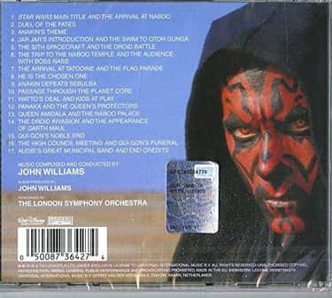 The 'Phantom Menace' Soundtrac is listed (or ranked) 1 on the list The Weirdest Ways Movies Spoiled Themselves