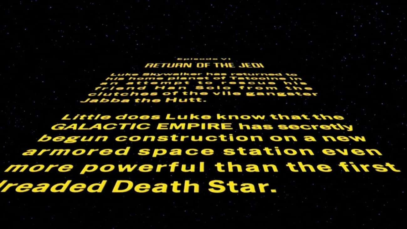 Star Wars Episode VI: Return o is listed (or ranked) 3 on the list Every 'Star Wars' Opening Crawl, Ranked
