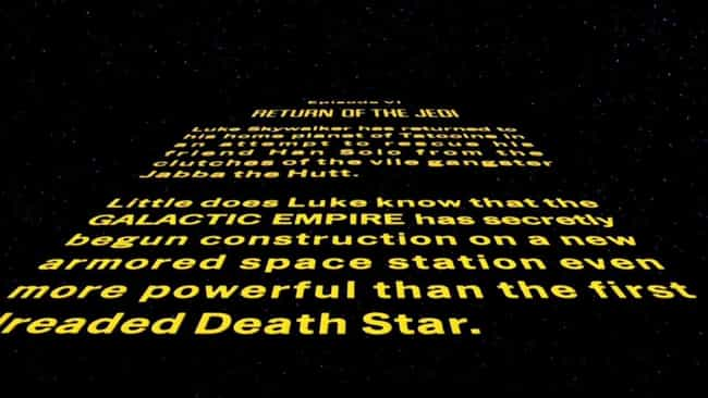 Star Wars: Episode VI –R... is listed (or ranked) 3 on the list Every 'Star Wars' Opening Crawl, Ranked