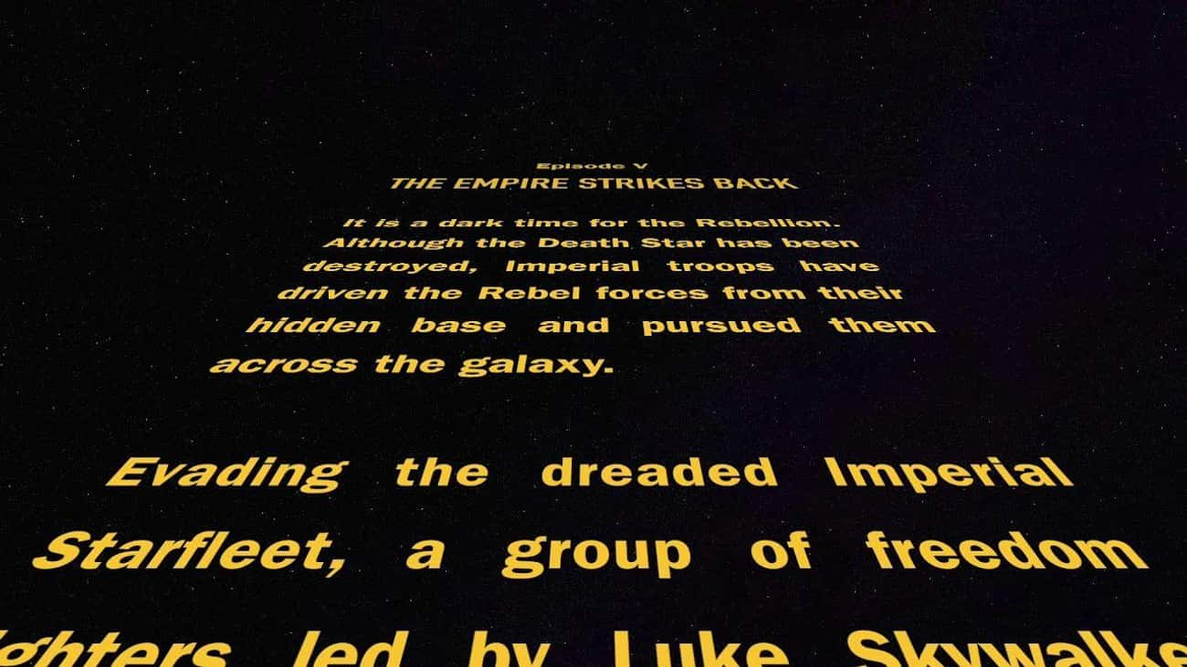 Star Wars Episode V: The Empir is listed (or ranked) 2 on the list Every 'Star Wars' Opening Crawl, Ranked