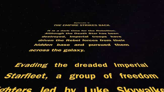 Star Wars Episode V: The... is listed (or ranked) 2 on the list Every 'Star Wars' Opening Crawl, Ranked