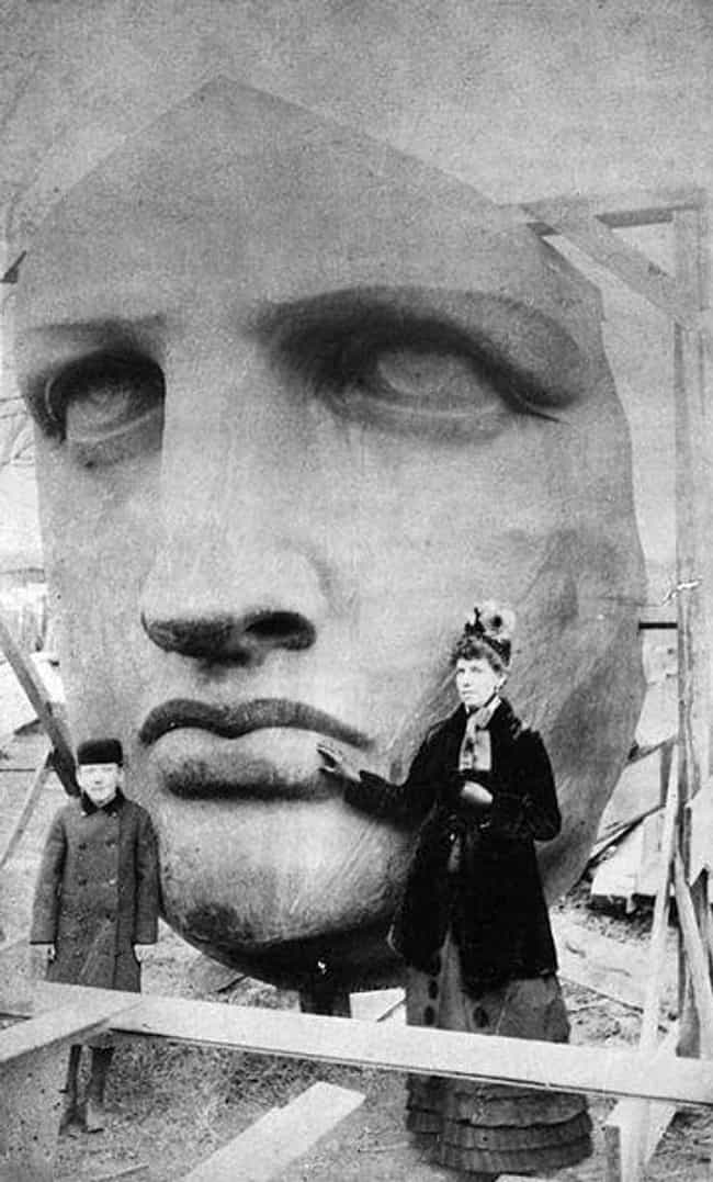 Statue of Liberty is listed (or ranked) 3 on the list 18 Fascinating Photos of Historical Landmarks Under Construction