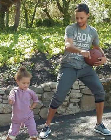 Stephen Curry's Daughter T is listed (or ranked) 1 on the list Adorable Pictures of NBA Players Caught Being Dads