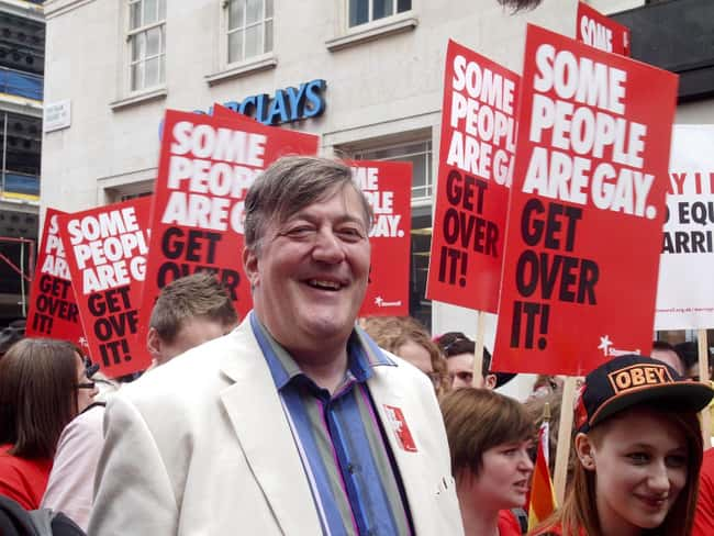 Stephen Fry is listed (or ranked) 14 on the list 48 Famous Couples with Huge Age Differences