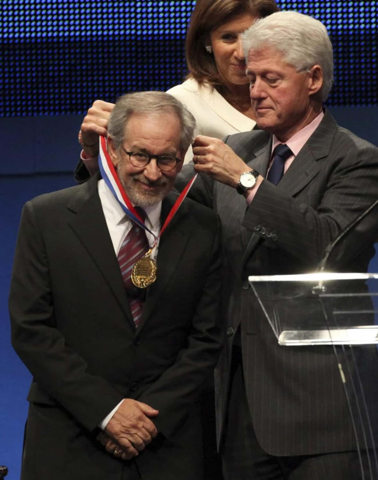 Steven Spielberg is listed (or ranked) 3 on the list Famous Friends of Bill Clinton