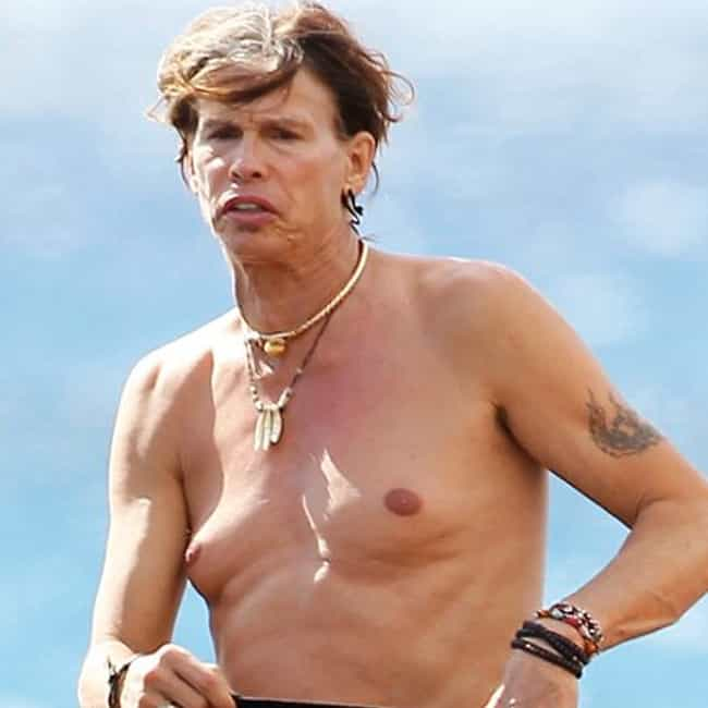 Steven Tyler is listed (or ranked) 2 on the list The Greatest Celebrity Man Boobs