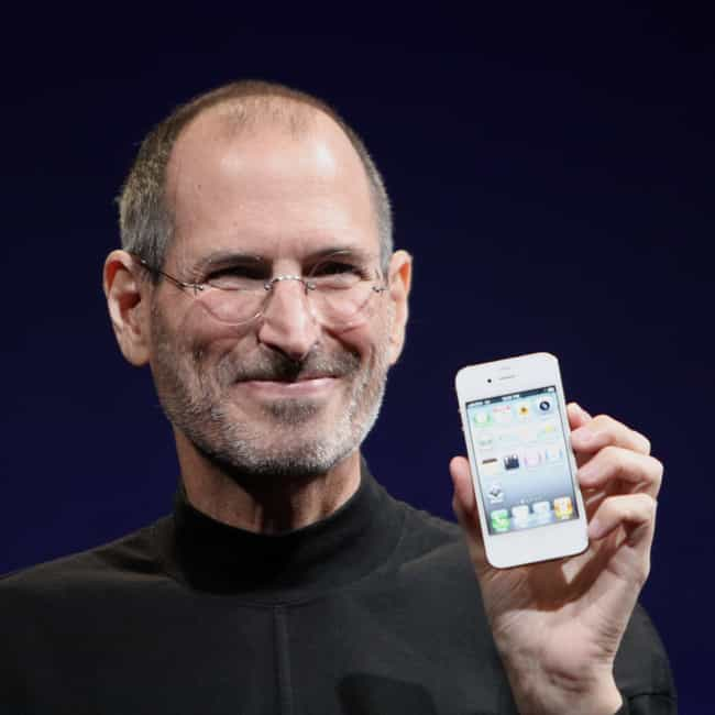 Steve Jobs is listed (or ranked) 2 on the list 60+ Adopted Celebrities