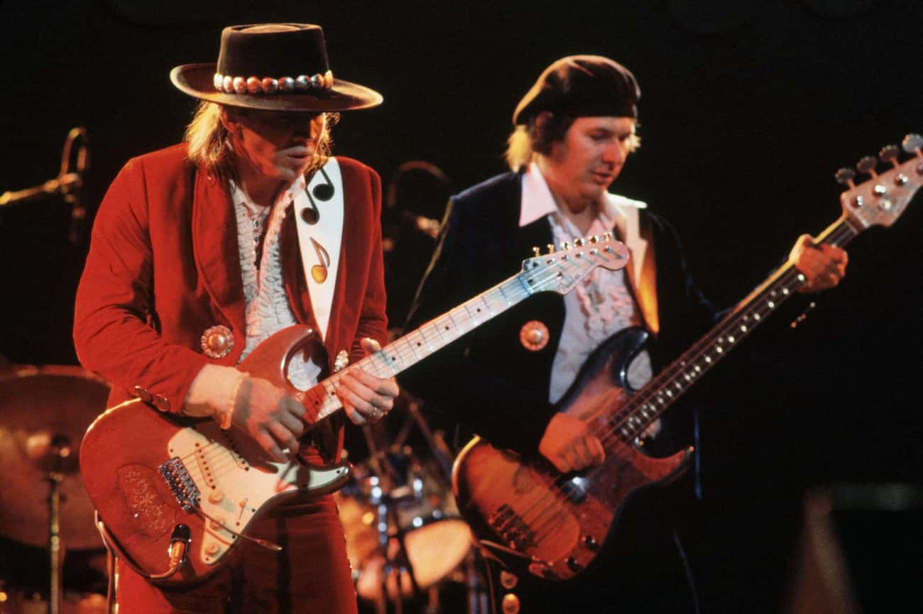 Stevie Ray Vaughan is listed (or ranked) 1 on the list Famous Justin F. Kimball High School Alumni