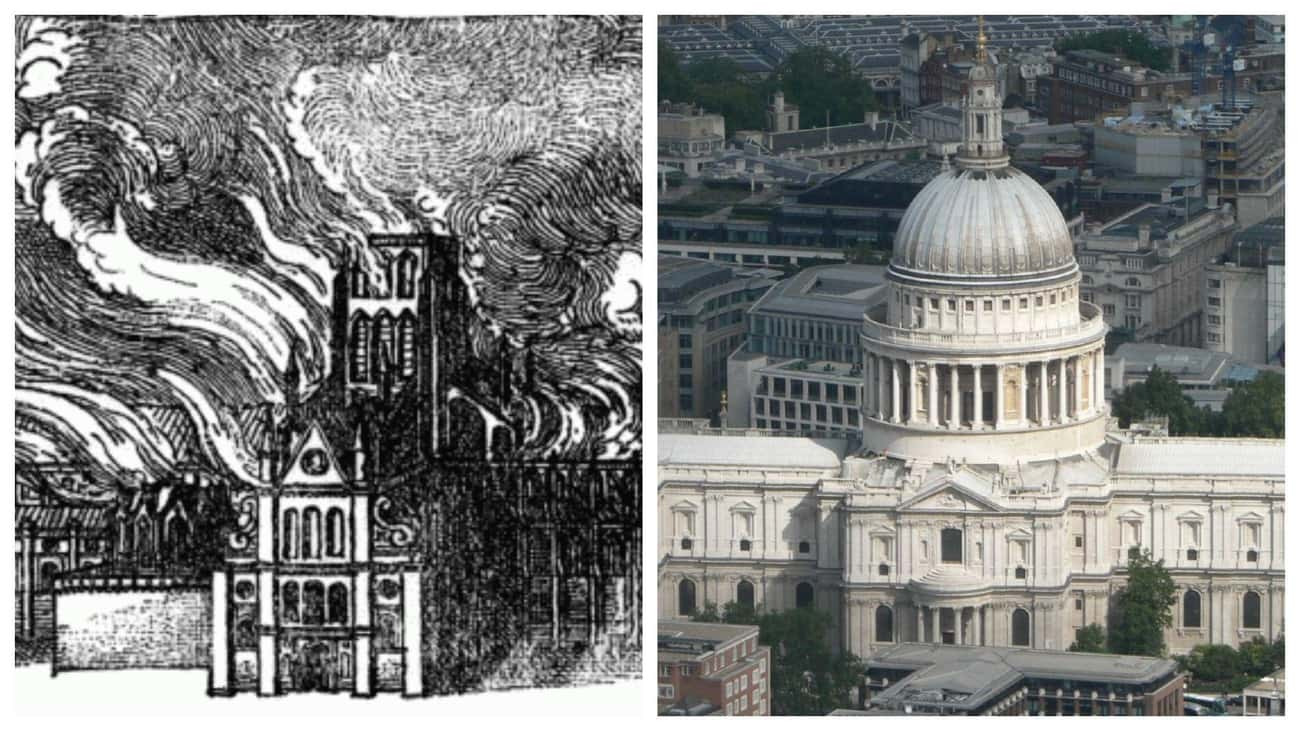 St Paul's Cathedral In London, is listed (or ranked) 4 on the list FamousBuildings That WereRebuilt