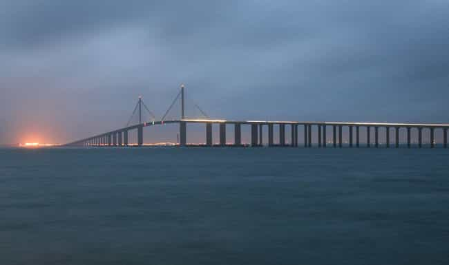 Sunshine Skyway Bridge is listed (or ranked) 3 on the list The Most Haunted Locations In Florida That You Can Actually Visit