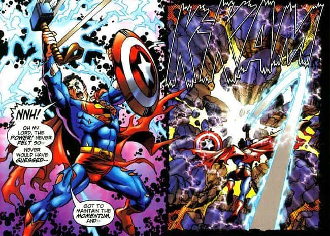 Superman is listed (or ranked) 8 on the list Everyone Who Has Wielded Mjolnir In Marvel Comics