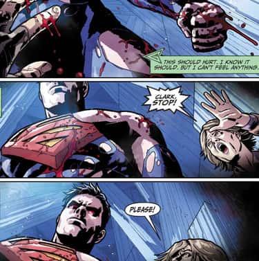 Superman Pummeled Green Arrow
