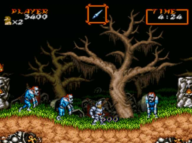 Super Ghouls'n Ghosts is listed (or ranked) 3 on the list 14 Impossibly Hard '90s Games No Kid Today Could Beat