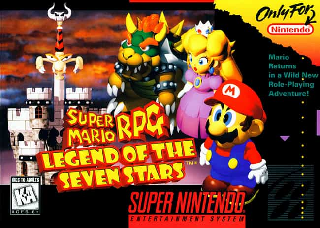 Super Mario RPG: Legend of the... is listed (or ranked) 4 on the list People Share Stories Of Their First Video Game Experience
