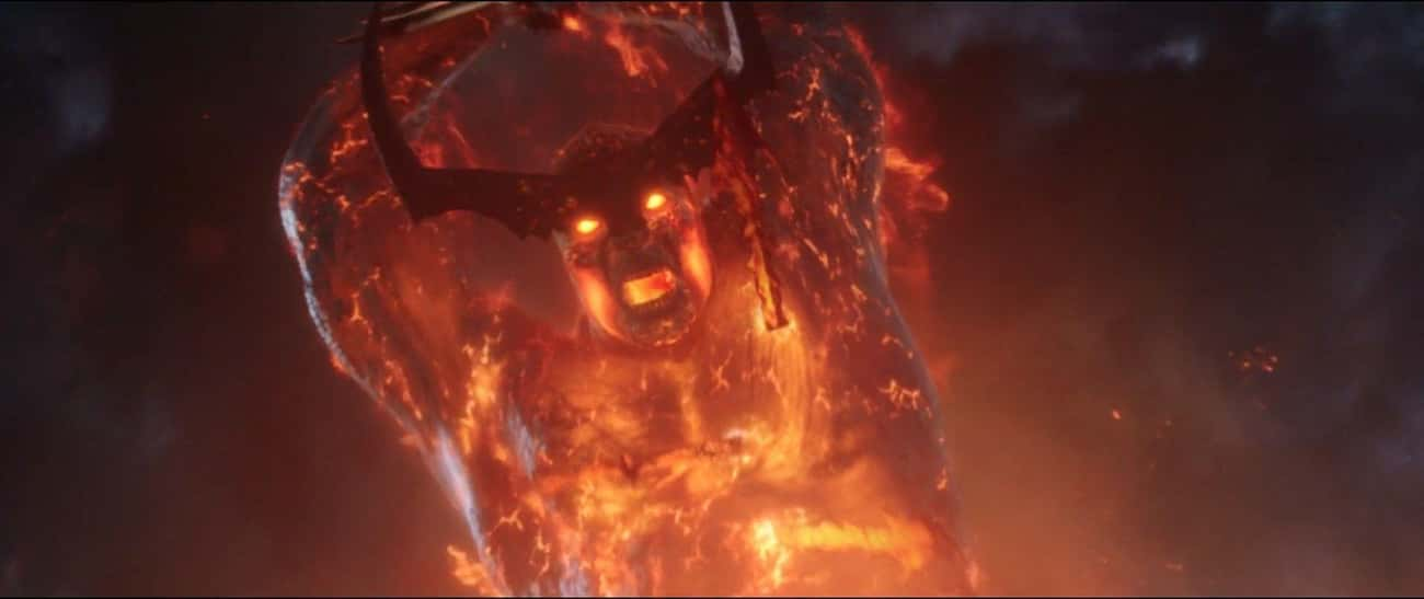 Surtur is listed (or ranked) 2 on the list The 25 Strongest Villains In The MCU, Ranked