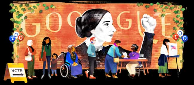 Susan B. Anthony is listed (or ranked) 1258 on the list Every Person Who Has Been Immortalized in a Google Doodle