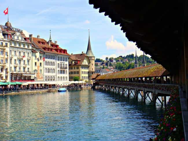 Switzerland is listed (or ranked) 4 on the list The Most Beautiful Countries in the World