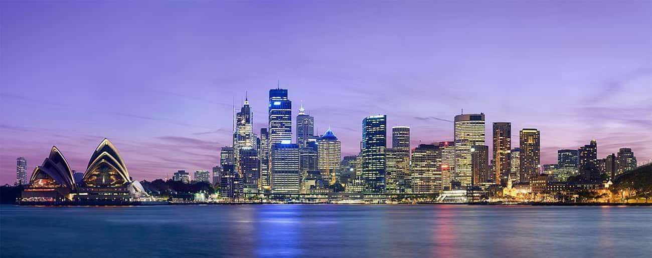 Sydney is listed (or ranked) 4 on the list The Most Beautiful Skylines in the World