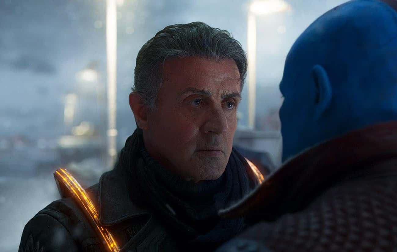 Sylvester Stallone in Guardians of the Galaxy Vol 2.