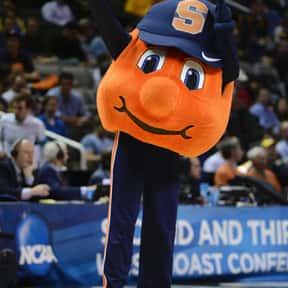 Syracuse University is listed (or ranked) 24 on the list Universities With The Dumbest College Mascots